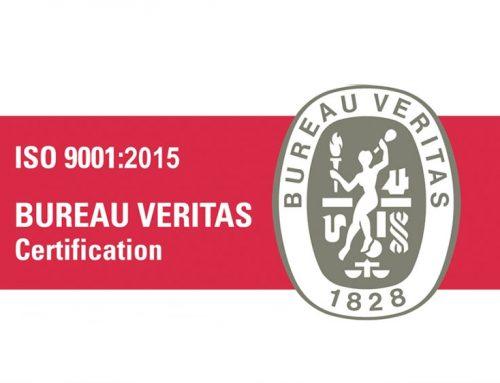 CERTIFICADO ISO 9001:2015 BUREAU VERITAS